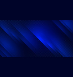 blue abstract gradient horizontal banner vector image