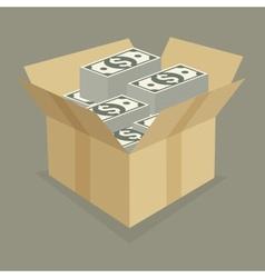 Box of money vector