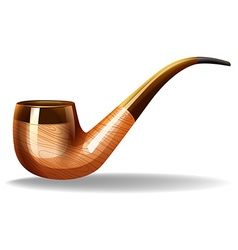 Brown pipe vector image