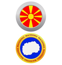 button as a symbol MACEDONIA vector image