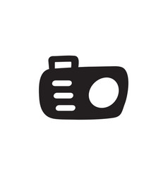 camera icon in flat style for apps ui websites vector image