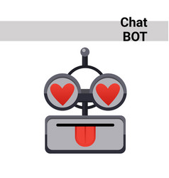 Cartoon robot face smiling cute emotion lovely vector