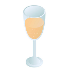 champagne glass icon isometric style vector image