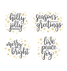 Christmas calligraphy set vector