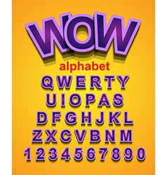 Colorful Alphapet Font to use for childrens vector image