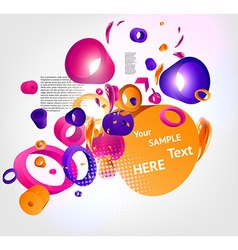 Colorful Business Template vector image