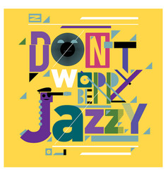 Colorful jazz music quote poster vector