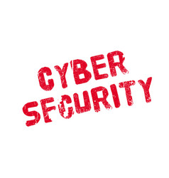 cyber security rubber stamp vector image