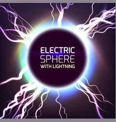 electric sphere light effect vector image