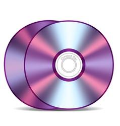 Empty compact discs vector