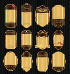 empty vintage golden frame background collection 3 vector image