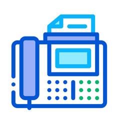 fax icon outline vector image