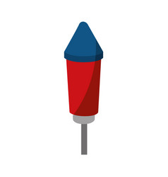 Fireworks rocket icon vector