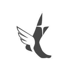 Foot with wings vector image