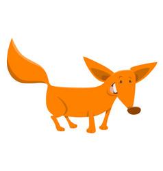 Fox cartoon animal character vector