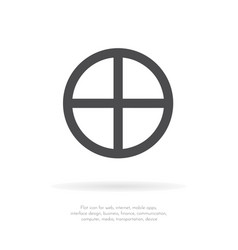 global sphere icon earth symbol vector image