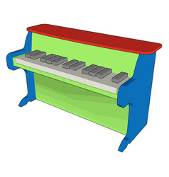 green piano toy on white background on white vector image