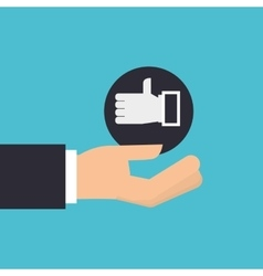 Hand holding icon like hand design isolated vector