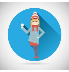 Happy Smiling Geek Hipster Girl Character with vector