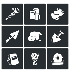 Hard work icons set vector image vector image