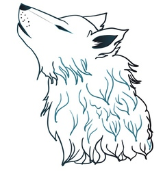 Howling Wolf Head3 vector