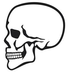 Human skull profile vector