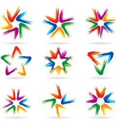 icon stars vector image