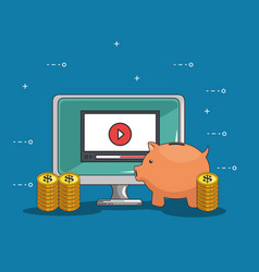 investment in online education vector image