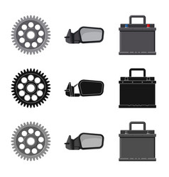 Isolated object of auto and part logo set of auto vector