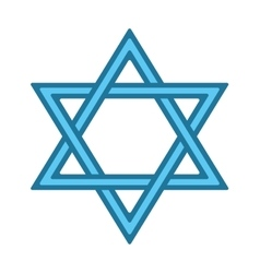 Jew star icon vector image