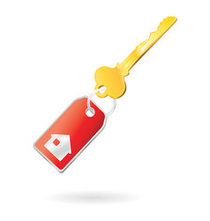 keychain house vector image
