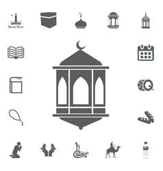 lantern icon ramadan kareem eid mubarak vector image