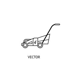 lawnmower line icon vector image