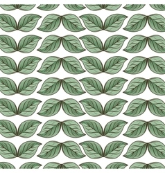 leafs plant pattern icon vector image