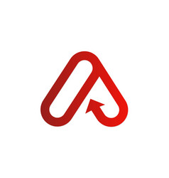 Letter a company logo vector