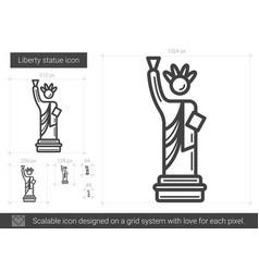Liberty statue line icon vector