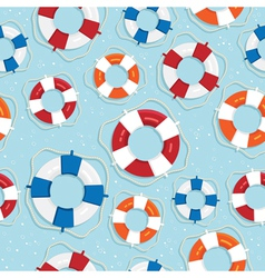 Life buoy pattern vector