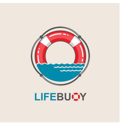 Lifebuoy design element vector