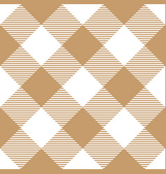 Lumberjack plaid pattern in brown and white vector