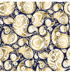 luxury paisley seamless pattern for wedding vector image