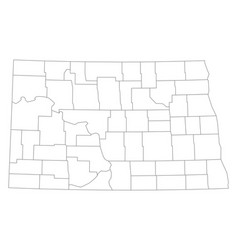 Map of north dakota vector