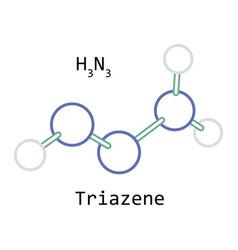 molecule h3n3 triazene vector image