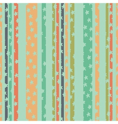 Pattern strips stars green vector