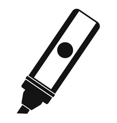 Permanent marker icon simple style vector