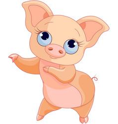 Pig dance vector