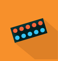 pill icon set of great flat icons with style vector image