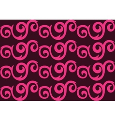Pink ornate seamless pattern vector image