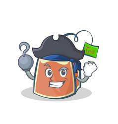 Pirate tea bag character cartoon vector