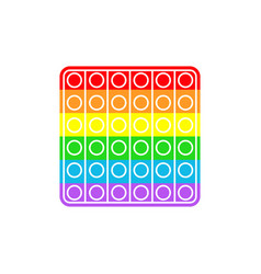 Pop it on white background vector