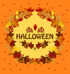 Poster on theme of the halloween holiday party vector
